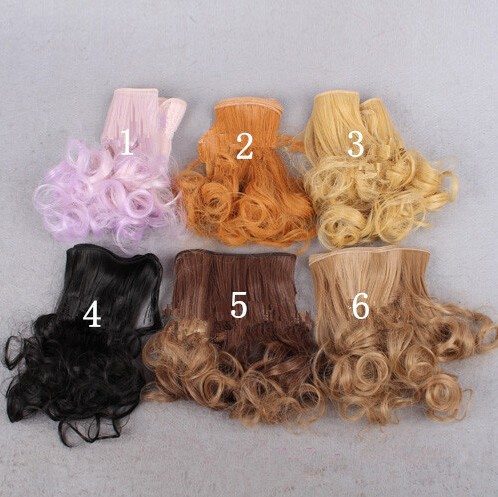 Modern Doll Curly Hair Wavy Hair Handmade Doll BJD Wigs Hair  For Barbie Dolls