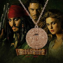 Pirates of the Caribbean round pendant necklace fashion design