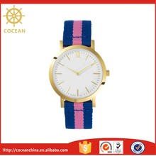 Natural Blue Pink Band Zinc Stainless Steel Material Watch
