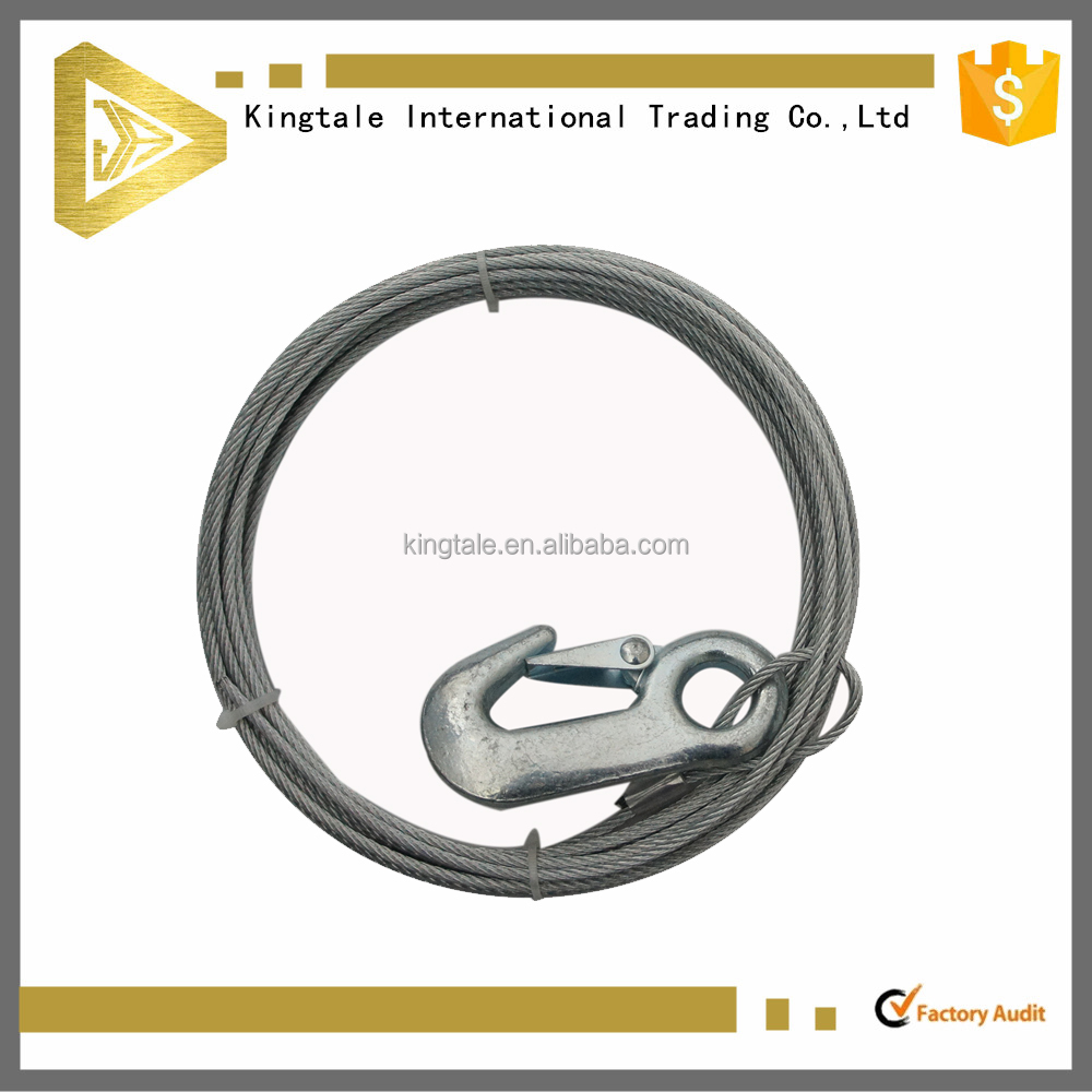 Good Quality Galvanized Steel Wire Rope Lifting Sling With A Hook ...