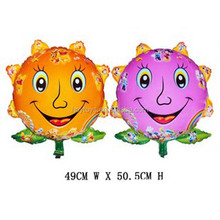 Provide Hot Sales Character Foil Balloon Sunflower Shape Balloons