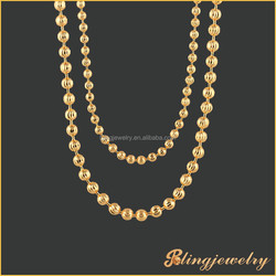 Hip hop bling bling moon cut chain necklace new gold chain design for men