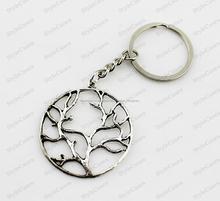 llavero de pendiente de círculo de árbol para llaves diferente de joyas se exportado todo el mundo