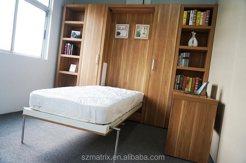 De la pared plegable cama muebles, diseño de la cama de ahorro de ...