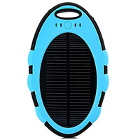 waterproof solar charger 5000mah ,mini solar power bank for smartphone for ipad