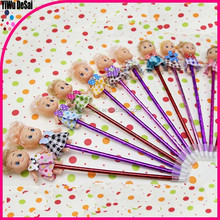 Cartoon bowknot doll gift pen school stationery gift pen korean and Japan stationery Cute promotion pen