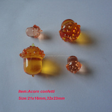 plastic acorn as harvest table scatter