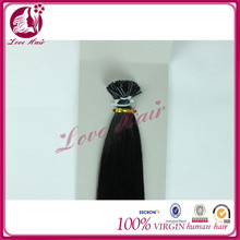 Heartiness real human i tip hair for sale china magic i tip straight hair from china real sexy doll black color #1hair