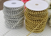 Decorative Fashion Plastic Beads Chain Spool For Nacklace