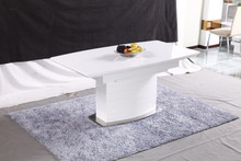 simple fashion MDF and glass stretch table
