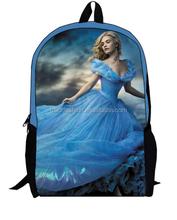 Cinderella Ariel Aurora Belle Princess girls school bags for kids cute cartoon student school bag cinderella backpack