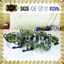 High efficiency & popular hot stainless steel soup pot,Straight shape stainless steel induction cooking pots with pouring/househ