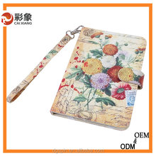 china supplier New arrival textiles leather case Book style Stand Leather case for ipad mini2