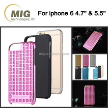 Rivet cell phone case for iphone 6 6s 5s, rock rivet cell phone cover for samsung series and mobile phone case for galaxy s6 s5