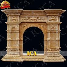 Anillo de la chimenea de mármol, chimenea interior, mármol LF0168 chimenea rodean