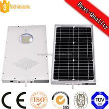15w LED integrated all in one solar street light motion sensor control