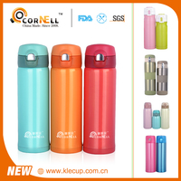Cold 24H /Hot 12H Winter New Vacum&thermos with Special lid double wall insulation water bottle Bounce press type