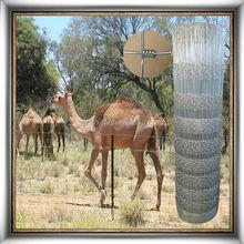 Easily assembled galvanized livestock fence netting
