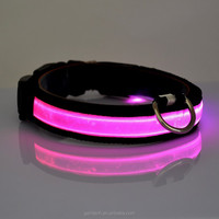 Glowing in The Dark Black Bands LED Collar For Dogs Lighted Dog Collars Illuminated Dog Collars 8 Colors Pet Dog Products