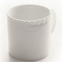 factory supply porcelain unique style embossed plain white mug