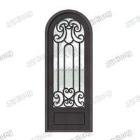 Arch Top Custom Iron Single Door Design