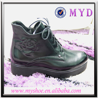 Black lady thick sole casual shoes