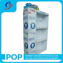 Dente paster/escova/cuidados pessoais produtos promocionais de papelão expositores de cremalheiras de exposição