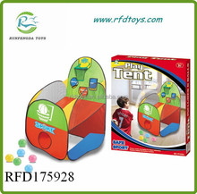 Lovely baby kid play tent colorful child toy tent with basketball frame kid play tent