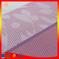 purple flower jacquard placemat tray mat flower bath mat plastic pvc material pvc mesh place mat blind mesh fabric for curtain