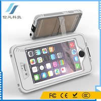 4.7 Inch Dustproof Scratchproof Shockproof Waterproof Phone Case for Apple iPhone6 6S 6 With Button And Holder Stand White