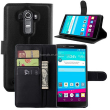 2015 Brand-New Phone case For LG G4 Stand Wallet Folio Flip Book Flip Magnetic PU Leather Cover Bag