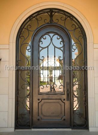 2016 cl sico de lujo puerta de hierro superior arqueado for Puertas en forma de arco