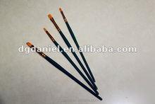 Professional Oil painting brush green color Nylon artist brush
