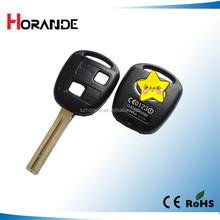 top sales car key cover for lexus car remote key blank toy48 2 button lexus remote control key case