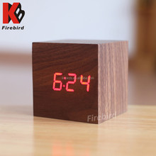 Best selling simple fashion small MDF and PVC material running alarm clock