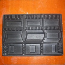 rectangle black plastic compartment insert tray for electronic display(SGS,BSCI,ROTH)