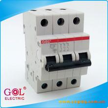 3P 6 to 63A 230V miniature circuit breaker plastic SH201L MCB