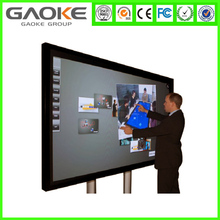 55 65 70 84inch mobile LED interactive whiteboard, smart board all in one computer
