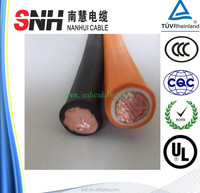 Shanghai local manufacture H01N2-D TUV perfect bending performance pvc double insulated 70mm welding cable