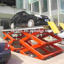 plataforma hidráulica elevadora para coche en garage