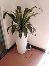 3W led solar light with flower pot/led solar led planter/led large flower pot with solar