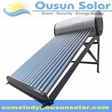 High quality non-pressurized compact stainless steel solar water heater installation