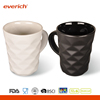 Everich 300ml Porcelain Cups & Ceramic Coffee Mug With Diamond Surface
