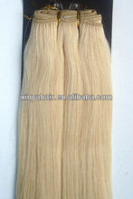 Good quality yellow hair extension 100% human hair wholesale