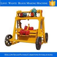 small mobile concrete manual brick machine price QT40-3B in discount