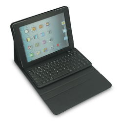bluetooth keyboard stand leather case with keyboard for ipad