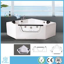Corner Installation Type and Massage Function Bathtub mini indoor sap hot tub