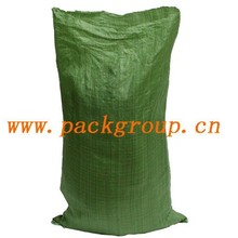 sell green color pp woven garbage bags for construction
