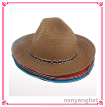 Unisex Men Paper fedora promotional cheap straw hat