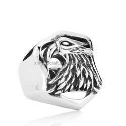 Vintage Silver Ring, Eagle Ring Bird Rings, Handmade on Men's Finger Ring, Handcrafted Silver Ring for Men